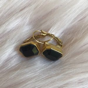 Vintage Monet Earrings with emerald cut stones
